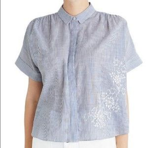 Madewell Hilltop Embroidered Blouse